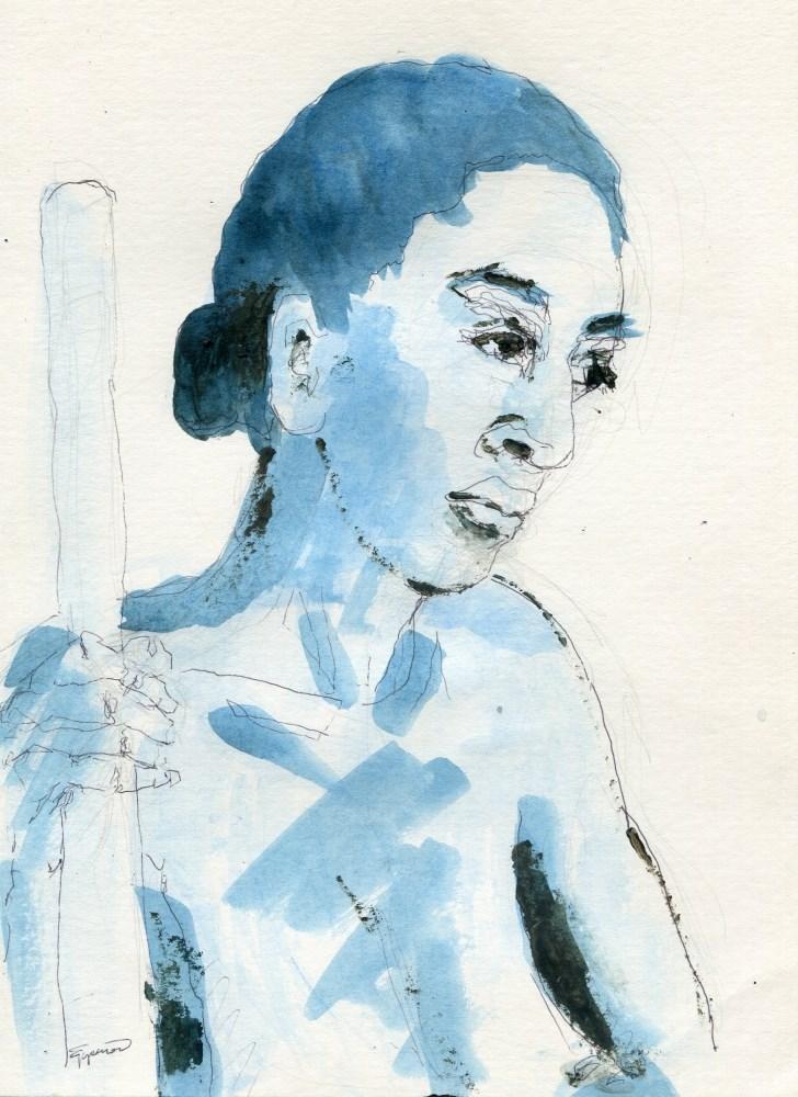 """""""Blue"""" original fine art by Stanley Epperson"""