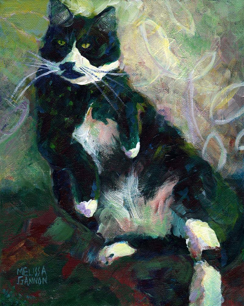 """Chester"" original fine art by Melissa Gannon"