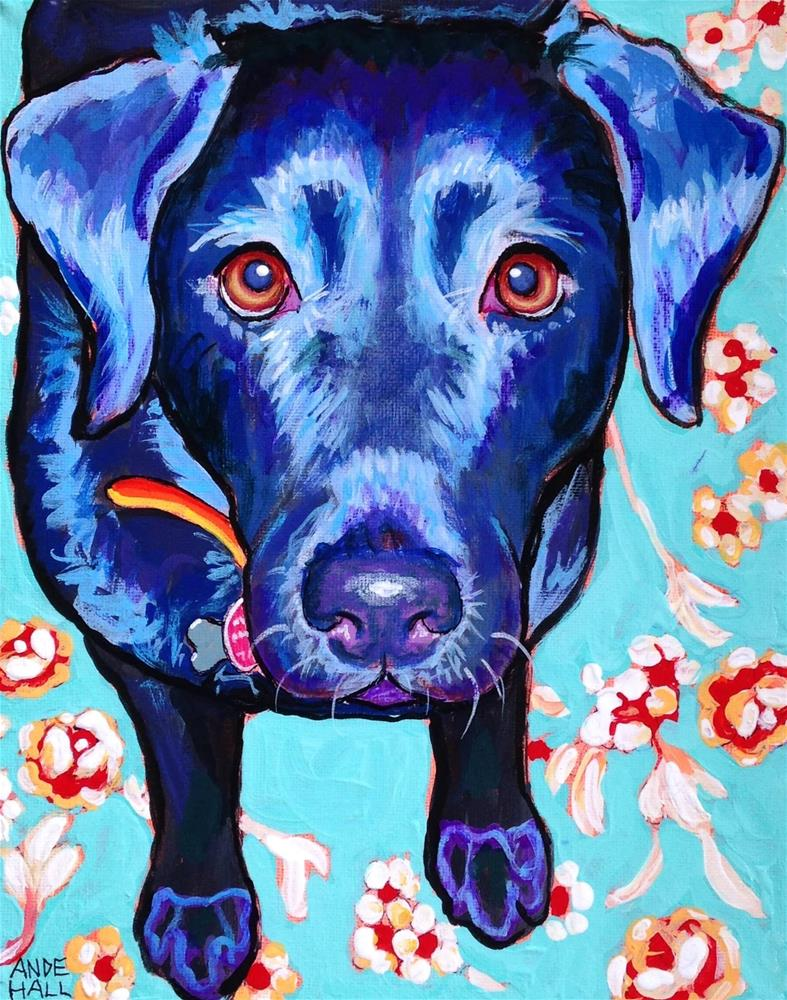 """Molli"" original fine art by Ande Hall"