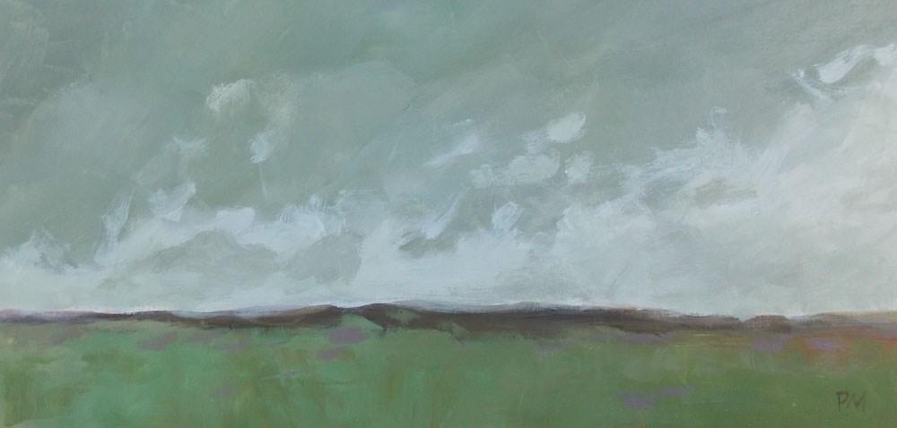 """Out on the Plains"" original fine art by Pamela Munger"