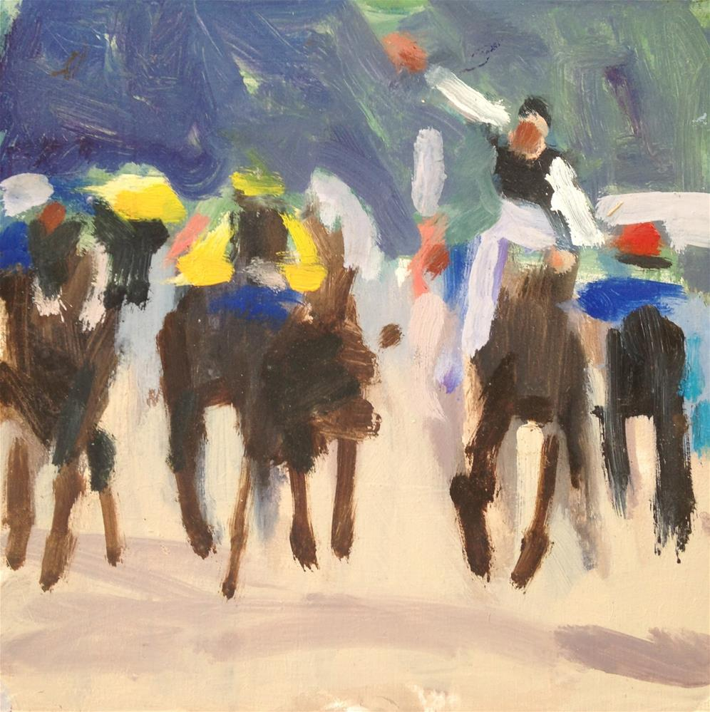 """Kentucky Derby II"" original fine art by Pamela Hoffmeister"