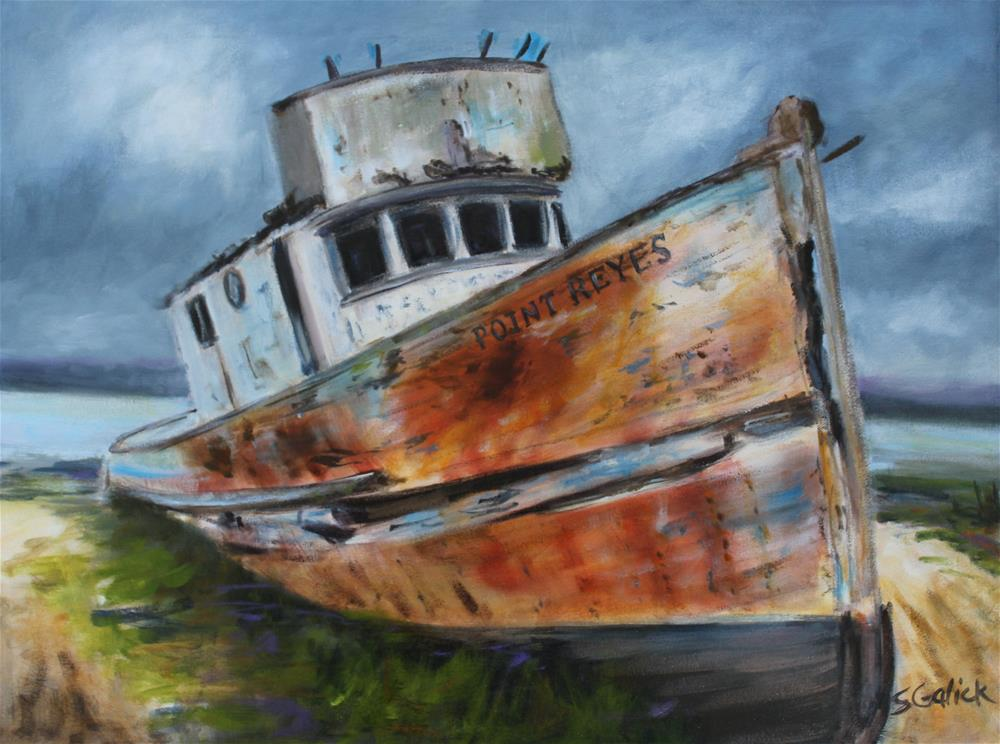 """Point Reyes Shipwreck"" original fine art by Susan Galick"