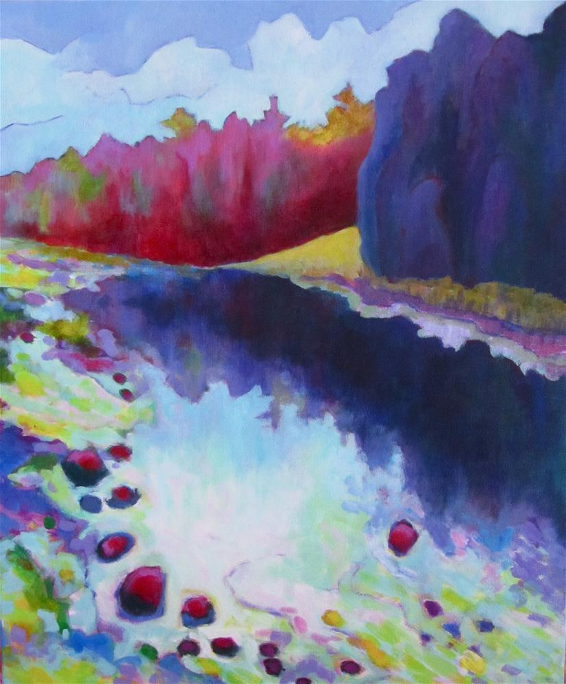 """Eramosa River View"" original fine art by Patricia MacDonald"