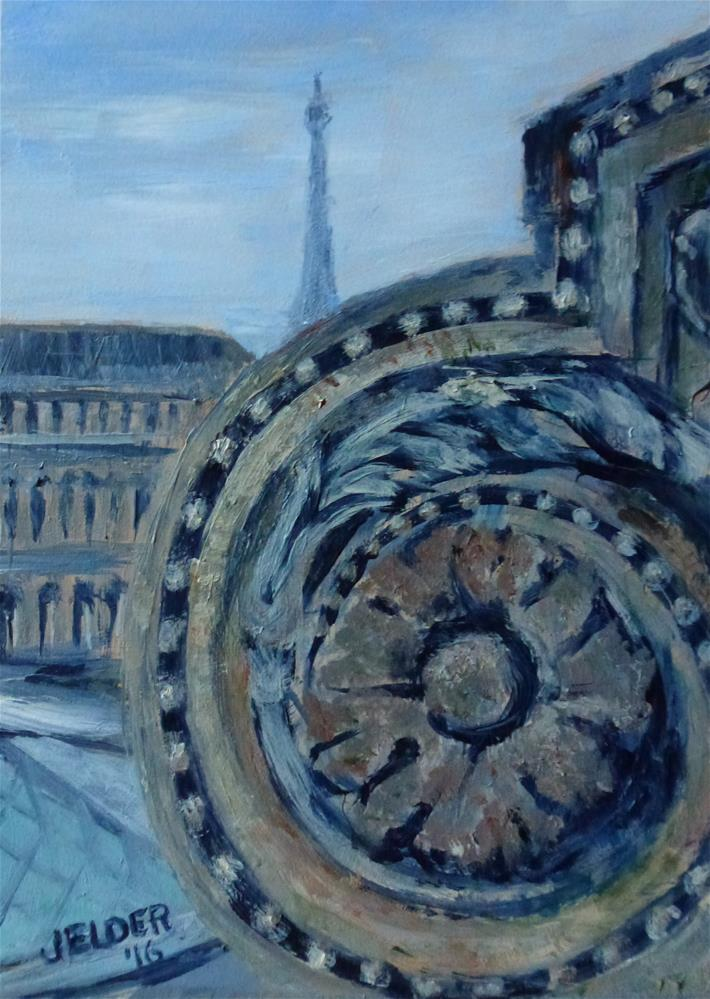 """Paris No. 100"" original fine art by Judith Elder"