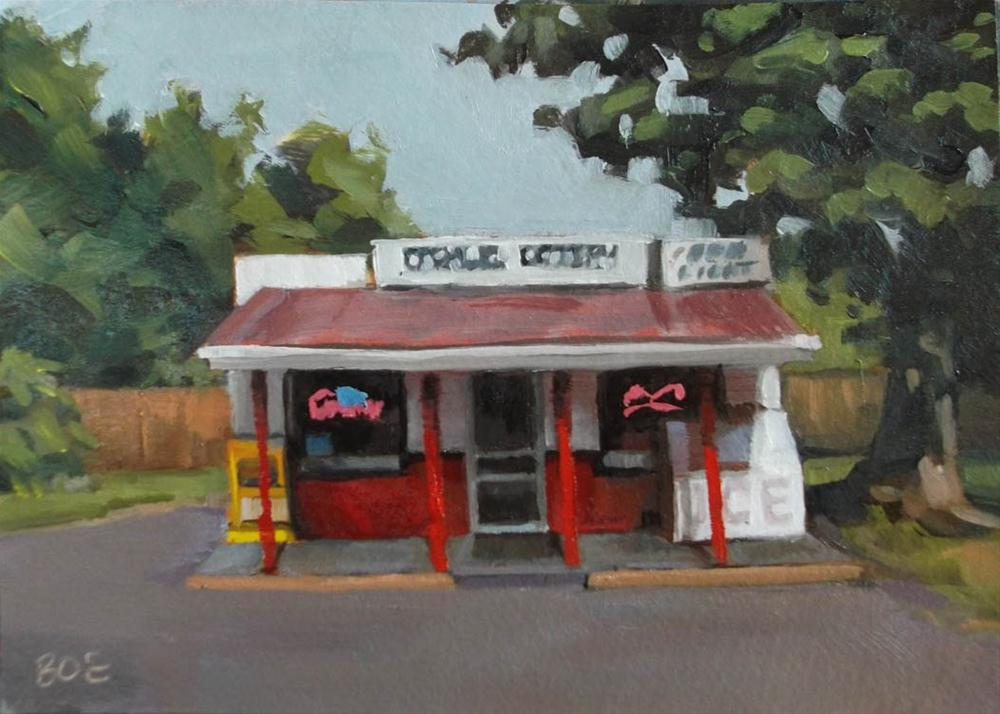 """The Casmur Grocery"" original fine art by Karen Boe"