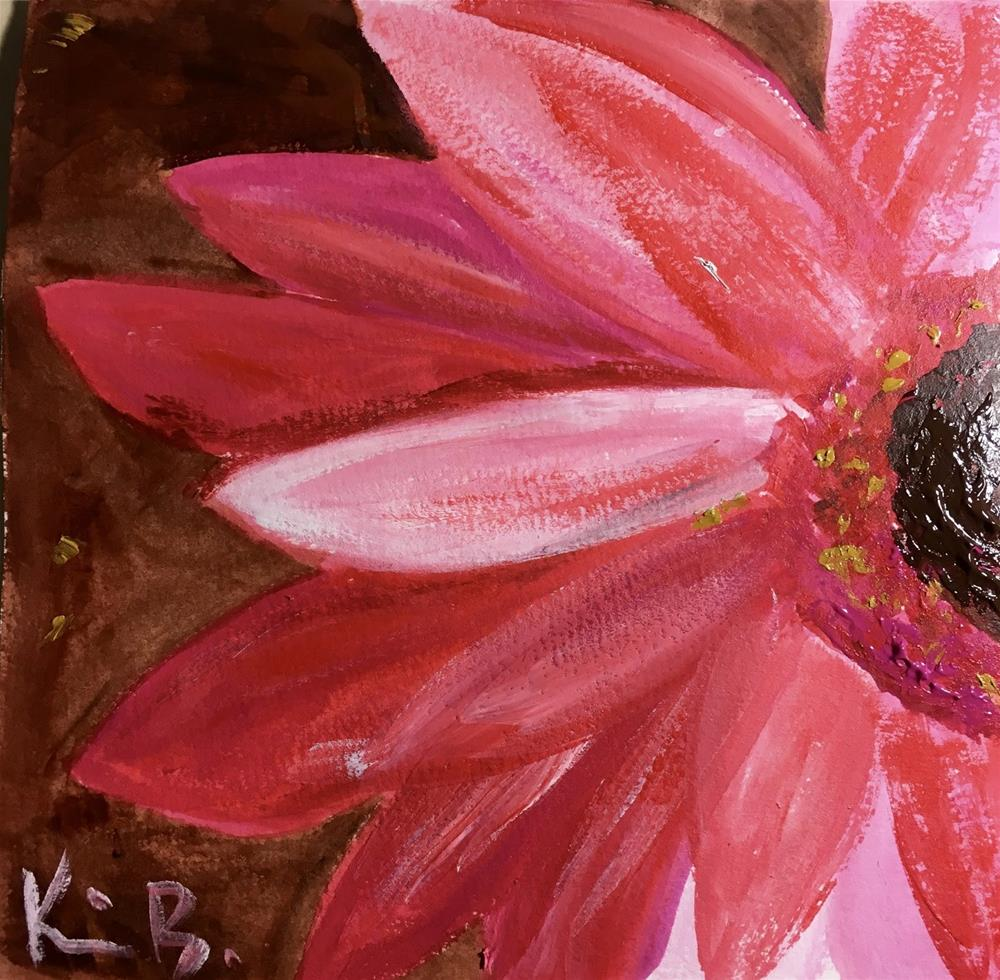 """#20 30 Paintings for 30 Days -   Pink-a-boo"" original fine art by Kimberly Balentine"