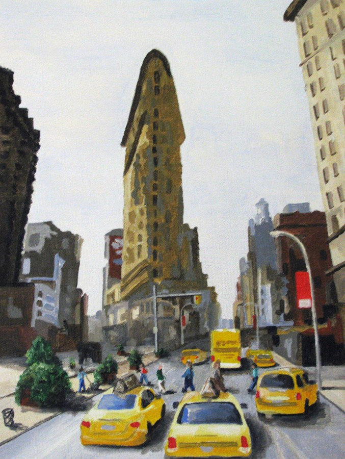 """FlatIron Building"" original fine art by Nan Johnson"