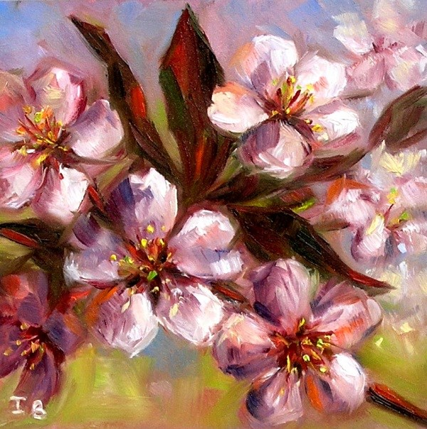 """""""Spring Blossom"""" original fine art by Irina Beskina"""