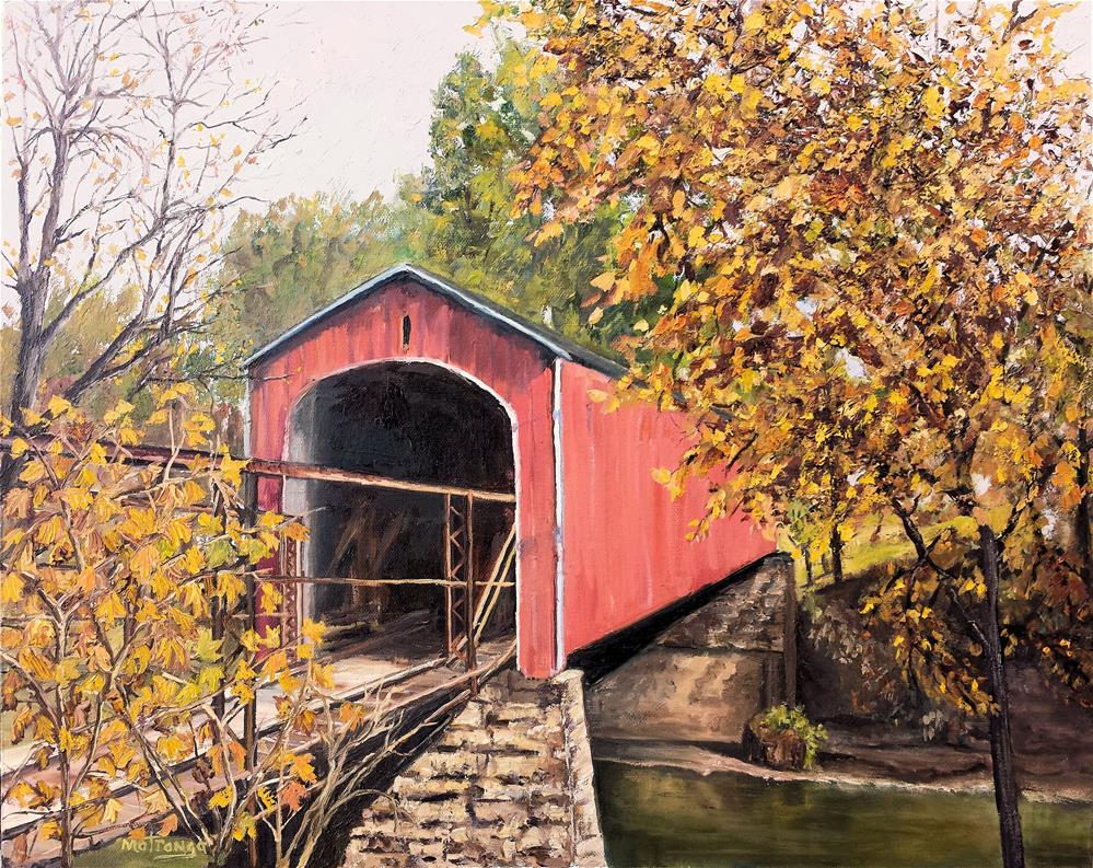 """Covered Bridge- Allen County"" original fine art by Patricia Matranga"
