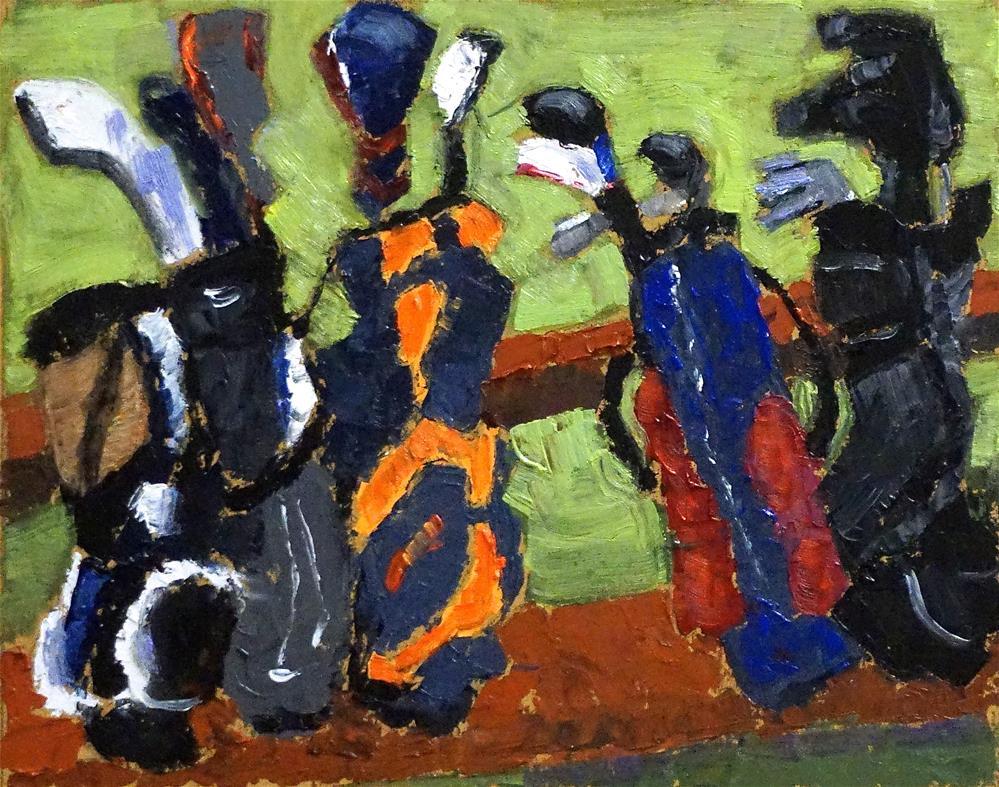 """Waiting to Tee Off"" original fine art by Judy Elias"