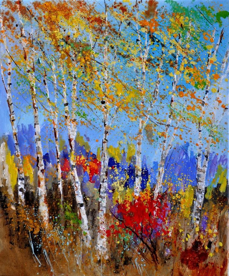 """aspen trees"" original fine art by Pol Ledent"