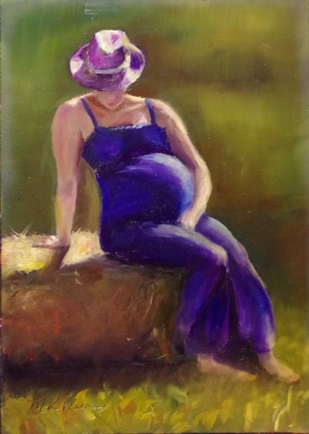 """Anticipation (mini)"" original fine art by Marilyn R. Place"