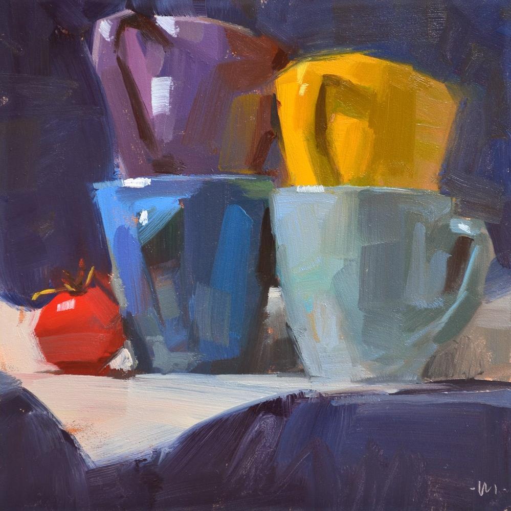 """""""Little Red"""" original fine art by Carol Marine"""