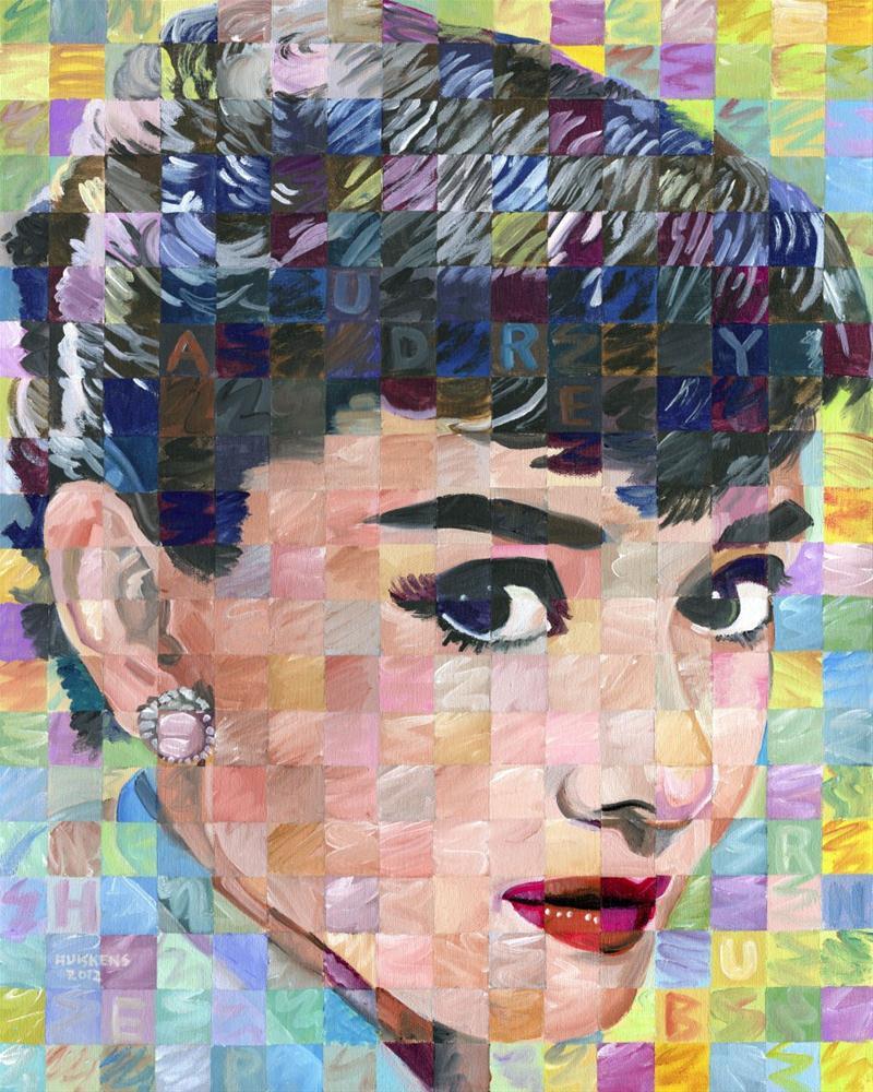 """Audrey Hepburn"" original fine art by Randal Huiskens"