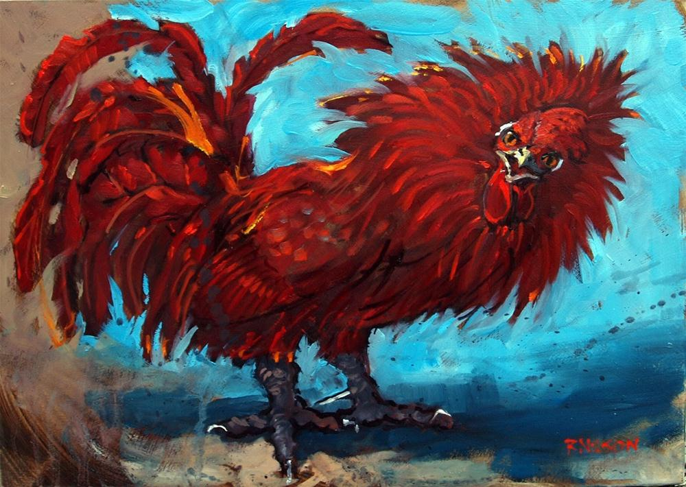 """Mad on Rooster"" original fine art by Rick Nilson"
