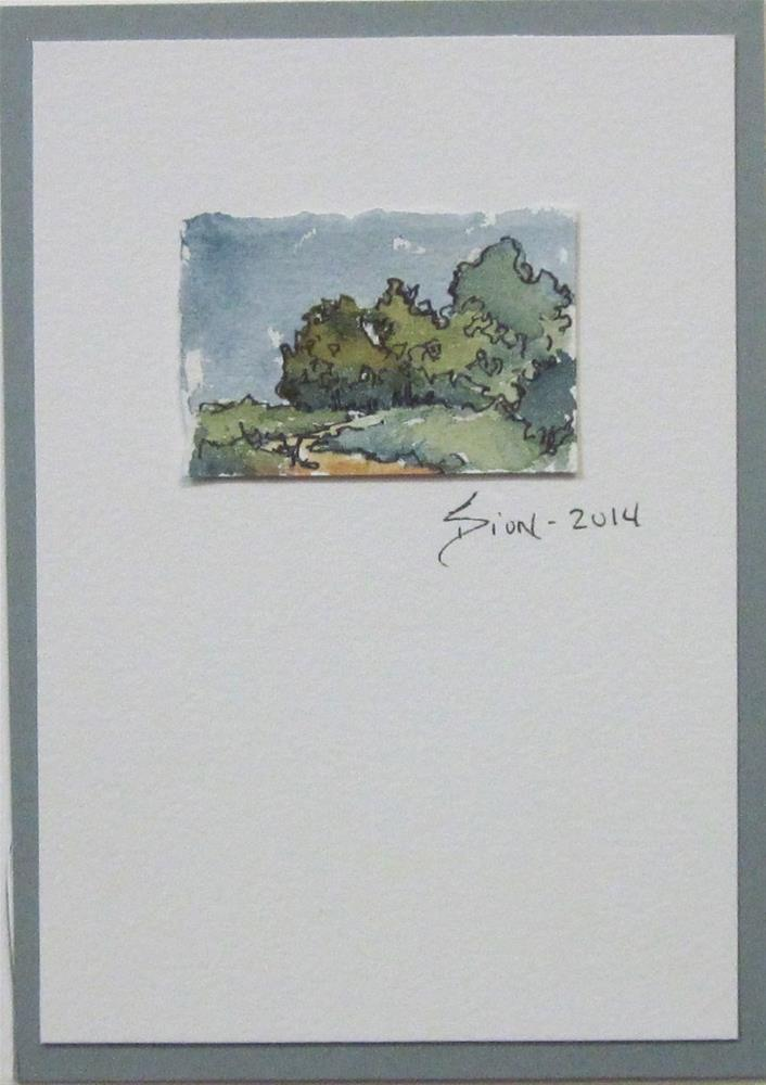"""Miniature Landscape 1"" original fine art by Sue Dion"