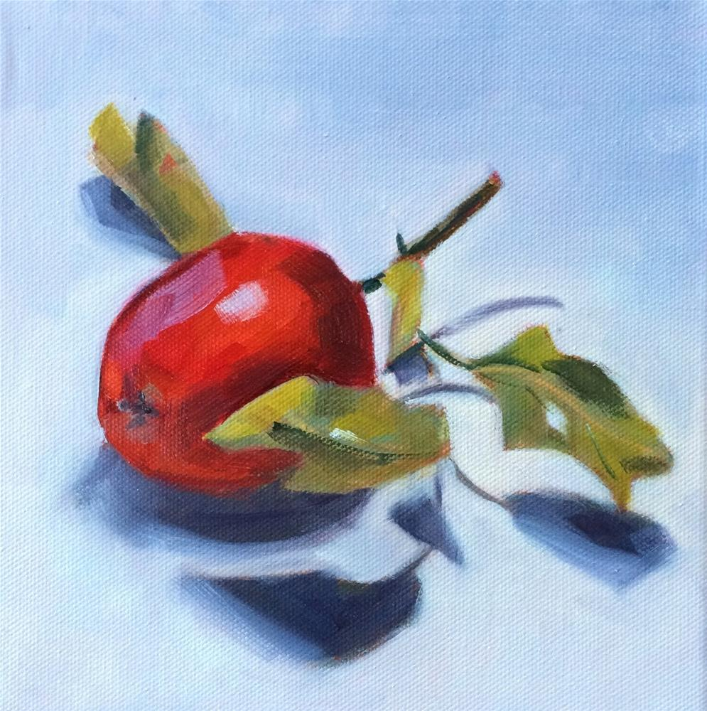 """A - apple #2"" original fine art by Suzanne Gysin"