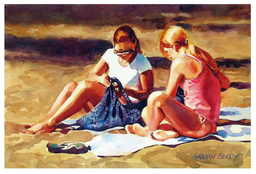 """A day on the beach."" original fine art by Graham Berry"