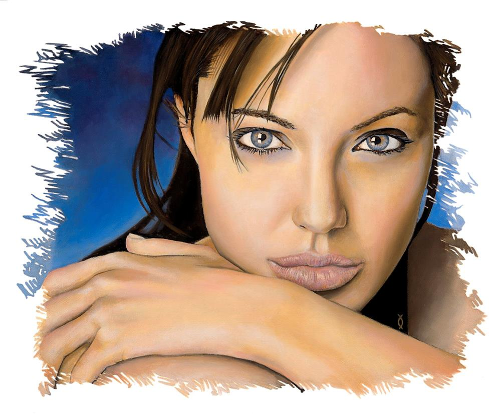 """Angelina"" original fine art by David Clark"