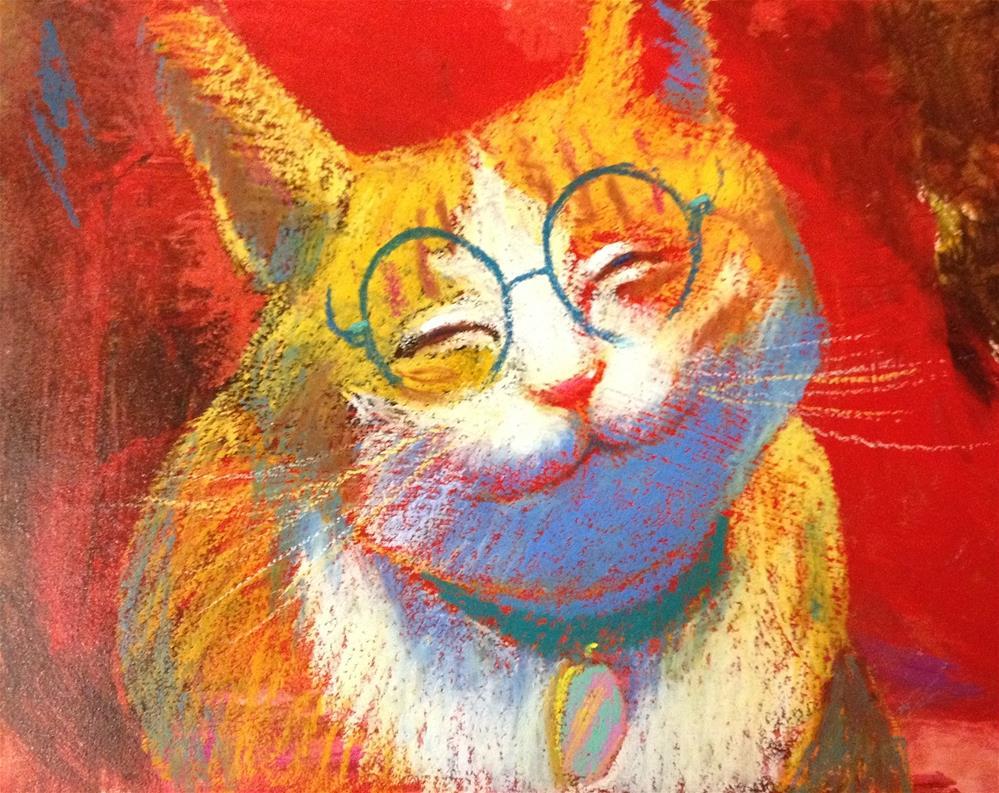 """""""SO SATISFIED !"""" original fine art by Jeff Leedy"""