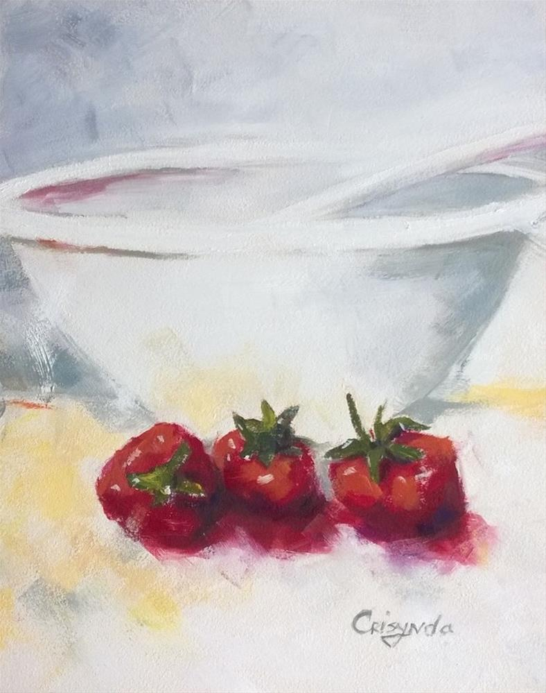 """Oil # 12 Strawberries"" original fine art by Crisynda Buss"