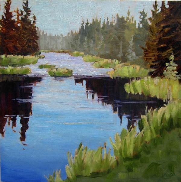 """River Study, Waskesiu"" original fine art by Nicki Ault"