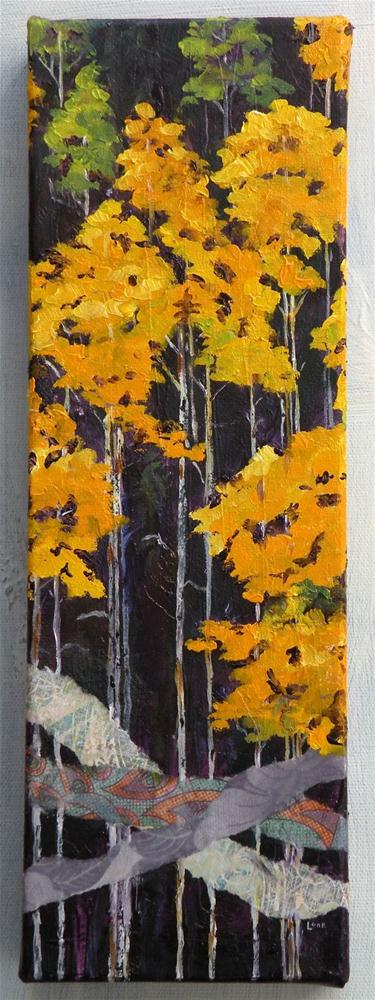 """ASPEN ON GUANELLA PASS ORIGINAL OIL ON GALLERY WRAP CANVAS © SAUNDRA LANE GALLOWAY"" original fine art by Saundra Lane Galloway"