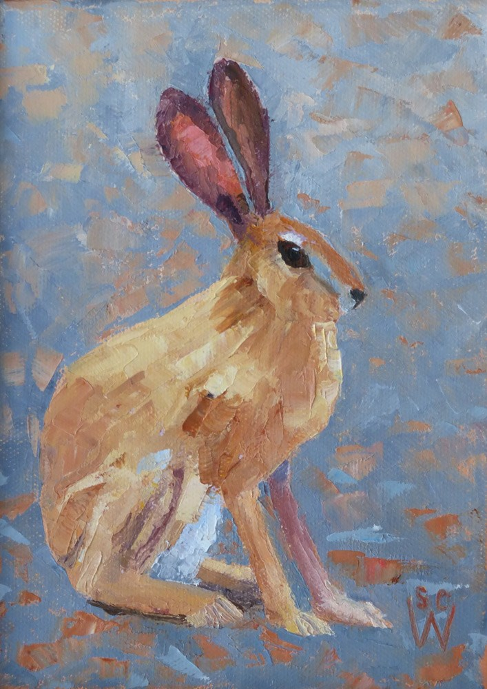 """Black-Tailed Jackrabbit"" original fine art by Susan Woodward"