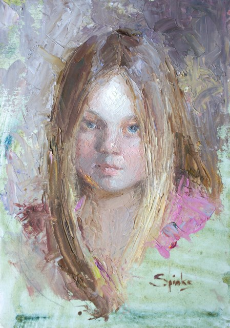 """Child's Play"" original fine art by Johanna Spinks"