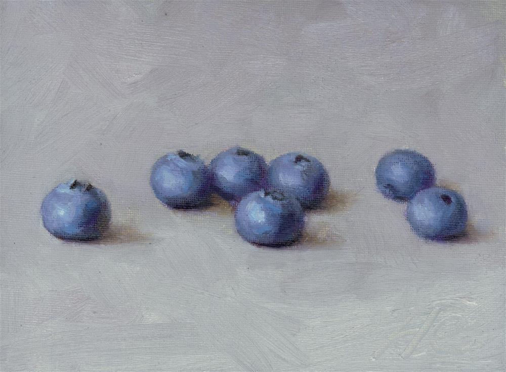 """""""Blueberry"""" original fine art by Yuehua He"""
