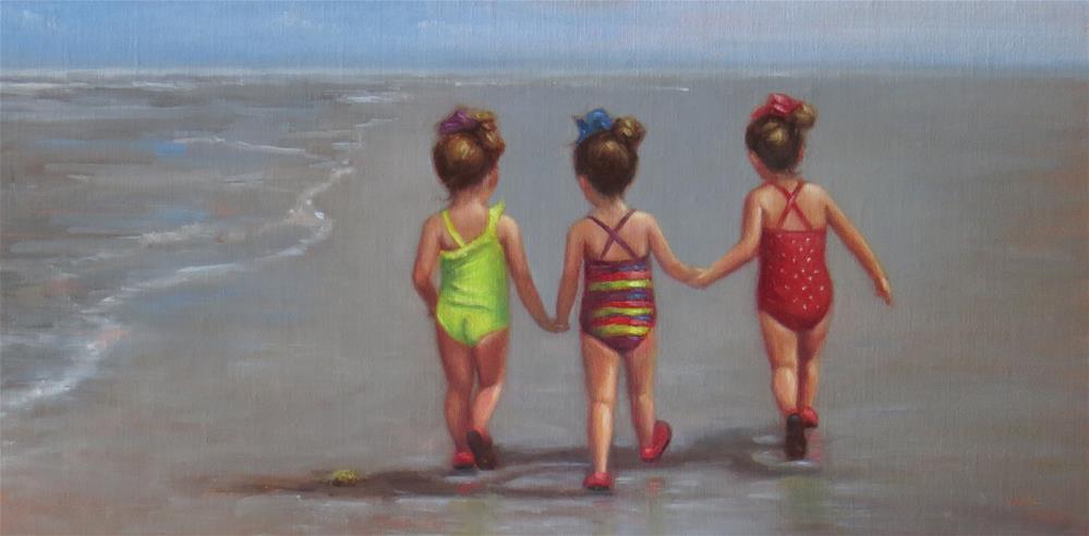 """Three Little 3-Year-Olds"" original fine art by Darla McDowell"