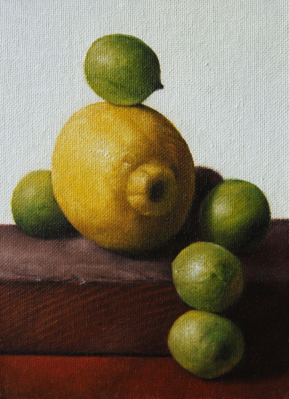 """""""Lemon & Limes"""" original fine art by Jonathan Aller"""