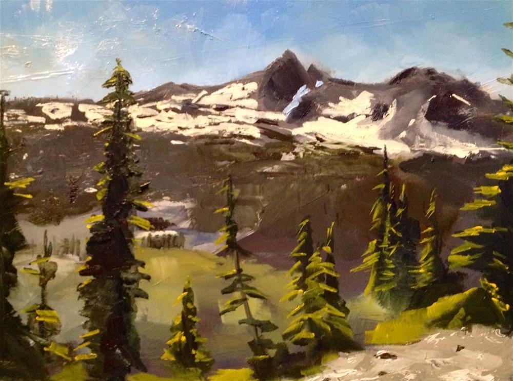 """""""Alpine Vista"""" original fine art by Gary Bruton"""