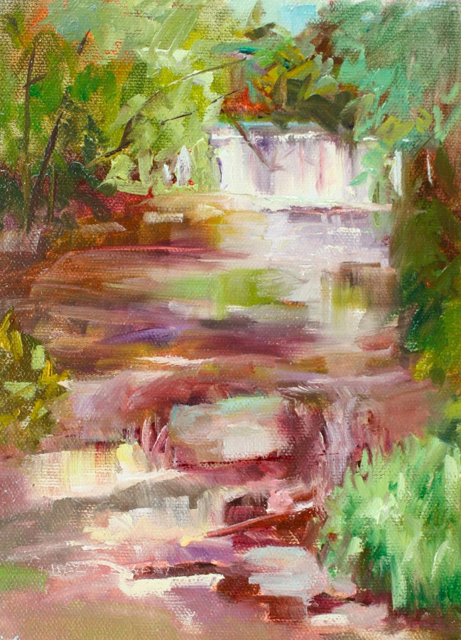 """Peace Like River"" original fine art by Pamela Sweet"