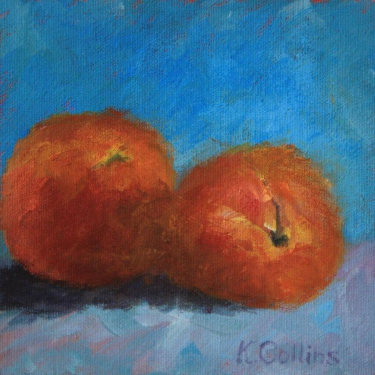 """Peachy Keen"" original fine art by Kathy Collins"