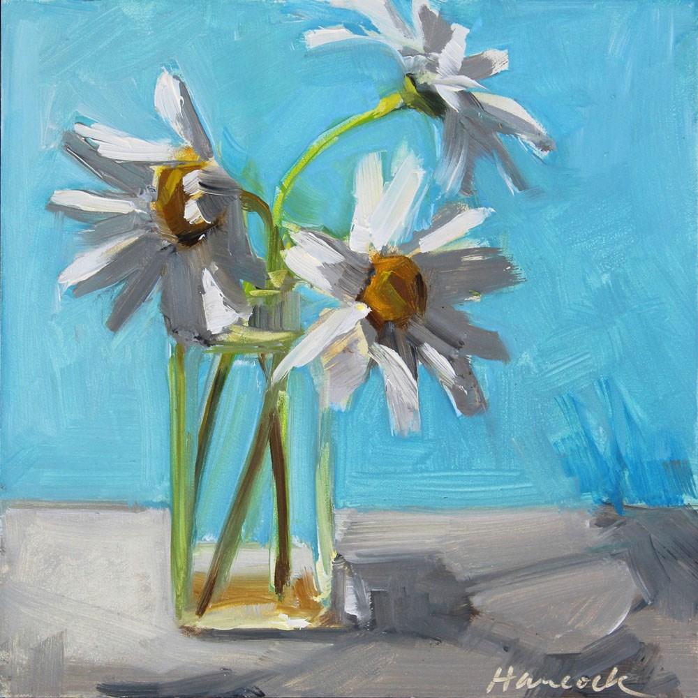 """Daisy Triplets"" original fine art by Gretchen Hancock"