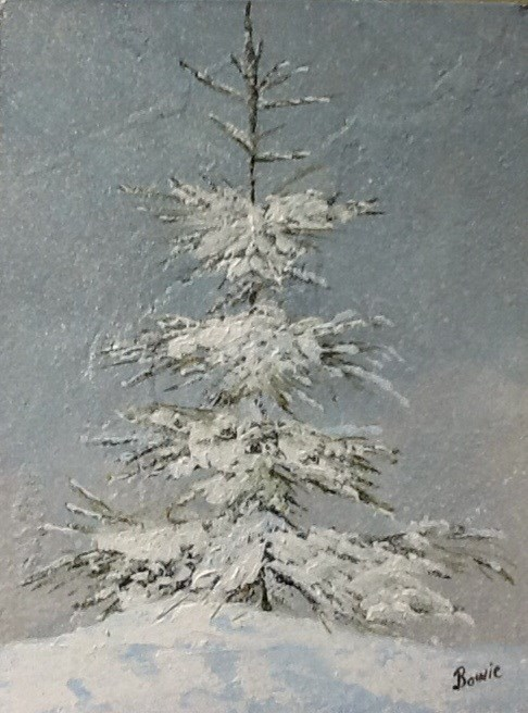 """Winter's Blanket"" original fine art by Maureen Bowie"