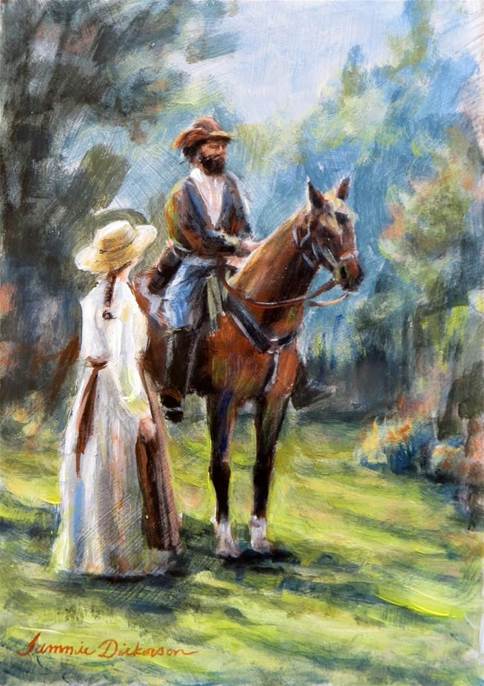 """Greeting the Rider"" original fine art by Tammie Dickerson"