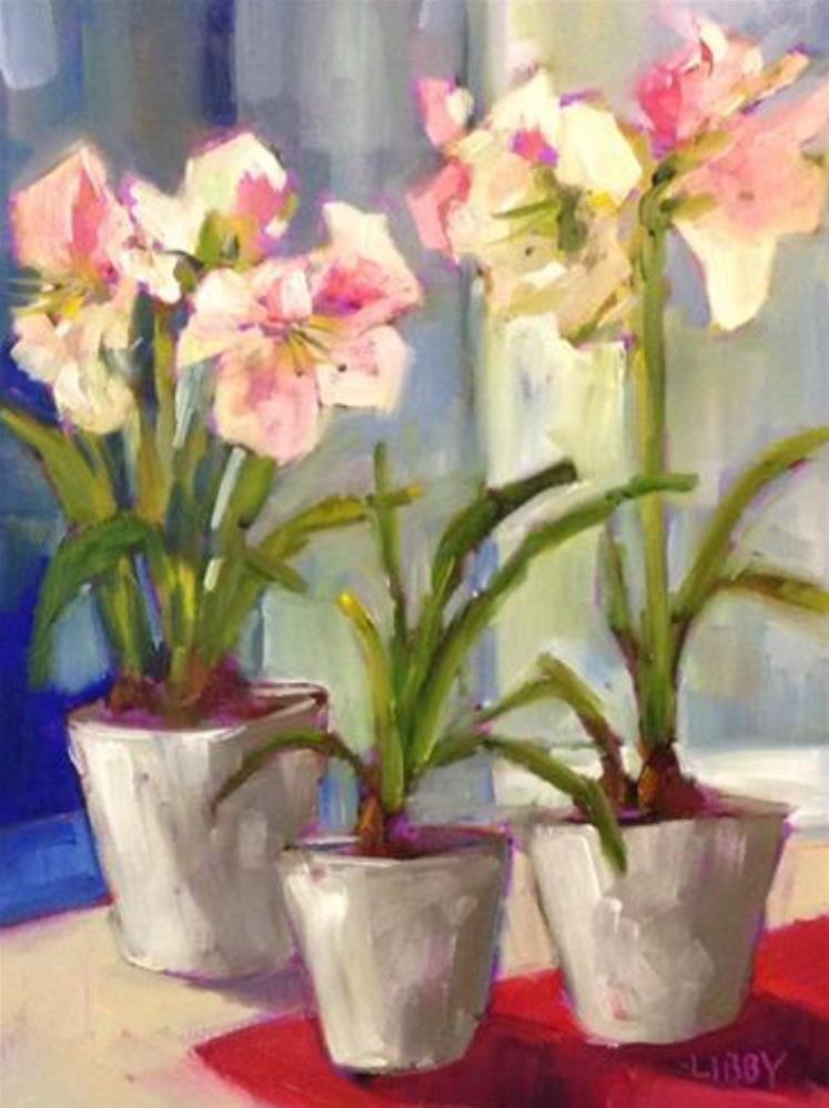 """""""January Blooms"""" original fine art by Libby Anderson"""