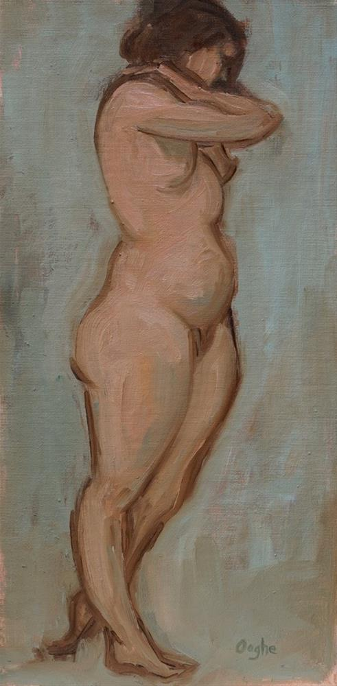 """Woman Standing"" original fine art by Angela Ooghe"