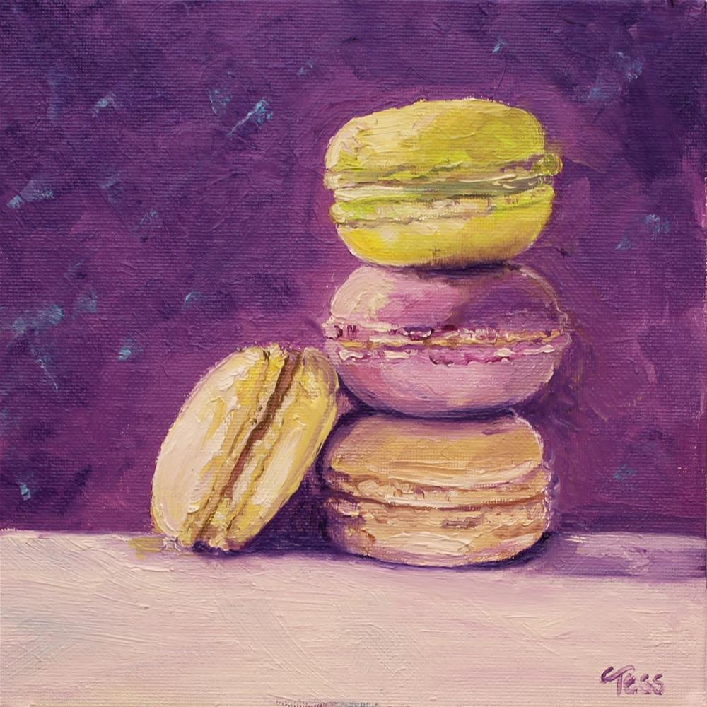 """Macaroons in Orchid"" original fine art by Tess Lehman"