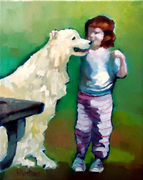 """Trust"" original fine art by Laurie Mueller"