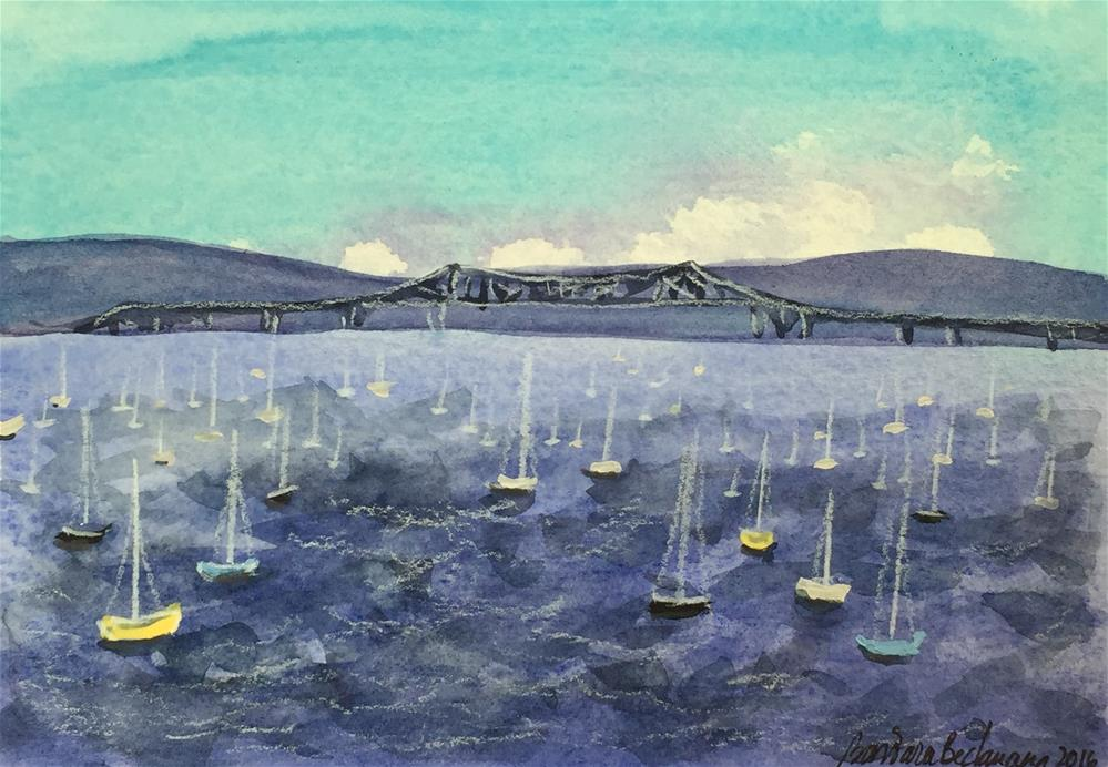 """Hudson Ruver Nyack NY"" original fine art by Barbara Beckmann"