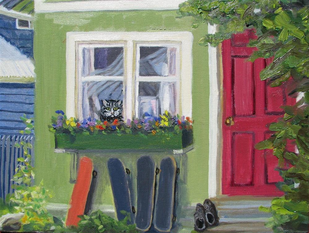 """Boarding house"" original fine art by Sue van Tonningen"