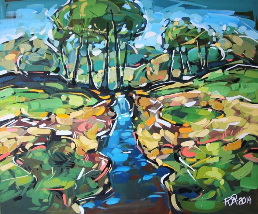 """Landscape Exploration 1"" original fine art by Roger Akesson"