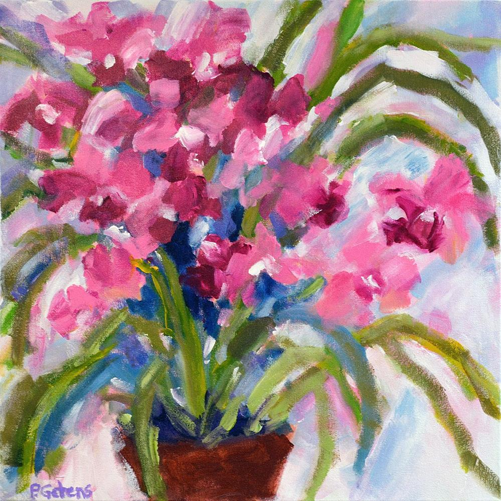 """Pink Princess Orchids"" original fine art by Pamela Gatens"