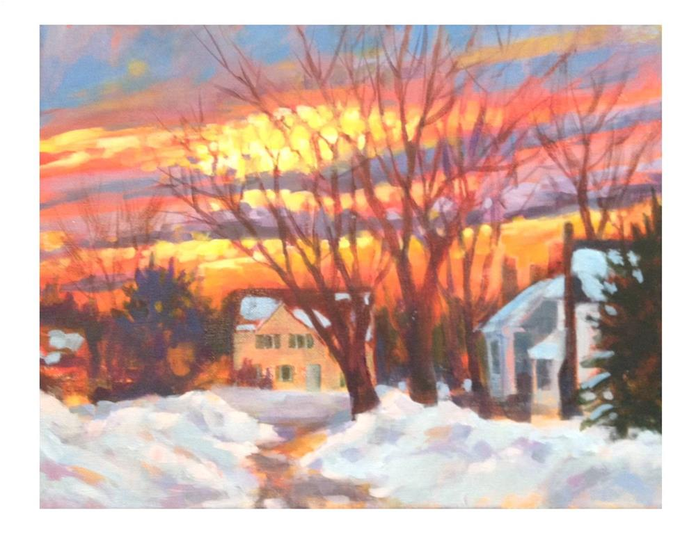 """Another Day Done"" original fine art by Suzanne Woodward"