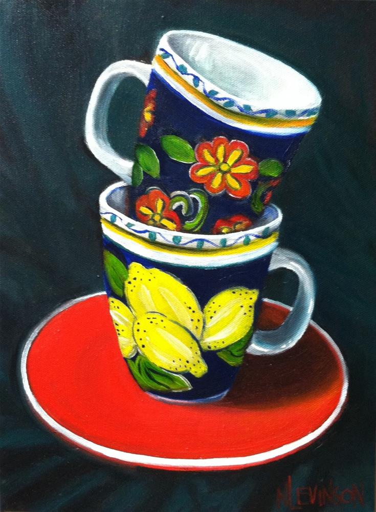 """Favorite Cups"" original fine art by Nancy Levinson"