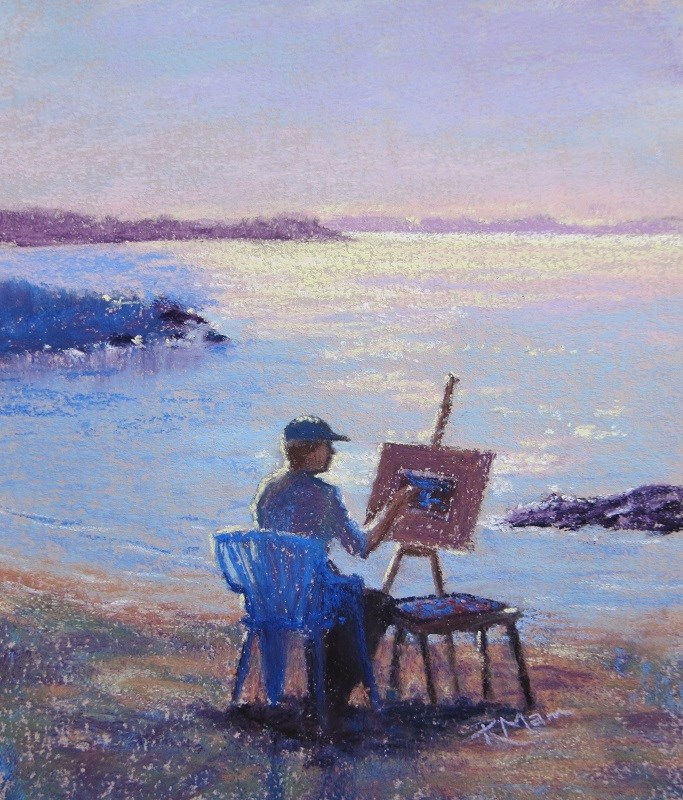 """The Artist"" original fine art by Ruth Mann"