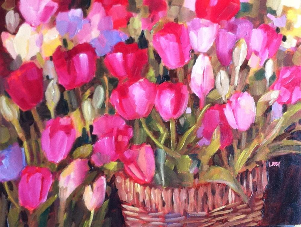"""Tulip Convention"" original fine art by Libby Anderson"